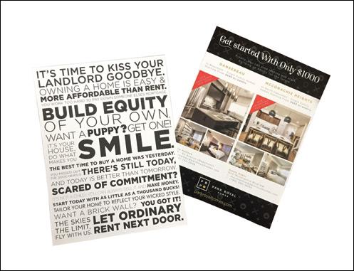 Kiss Your Landlord Goodbye! Category winner (print)