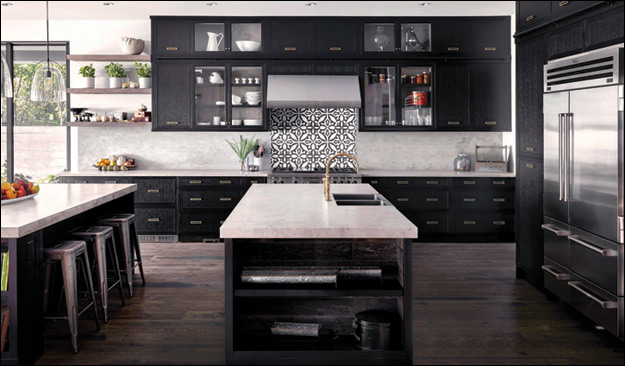 This kitchen by Falcon Heights Contracting Ltd., a Custom Home category finalist, has two islands to maximize counter space, socializing, and flow.